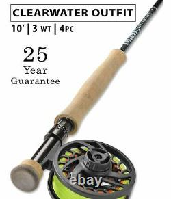 Orvis Clearwater Euro Nymph 3wt 10' Complete Fly Rod Outfit Free Shipping