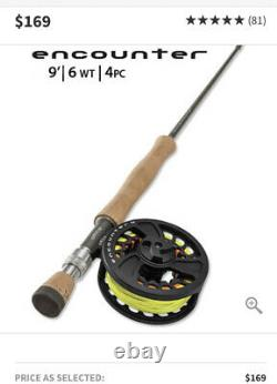 Orvis Encounter 6 Weight 9 ft Fly Rod Outfit 8P435363