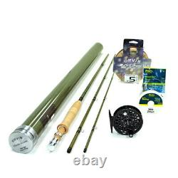 Orvis Superfine Glass 763-3 Fly Rod Outfit 7'6 3wt