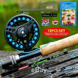 PROBEROS 1set Fly Reel + New Fishing Equipped Fishing Rod Fishing Tackle Combo