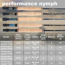 Performance Nymph 10ft 2/3/4wt Fast Action Fly Fishing Rod and Reel Combo