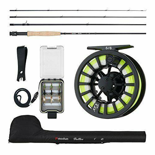 Piscifun New Fly Fishing Rod And Reel Combo Complete 5/6 Starter Package Kit