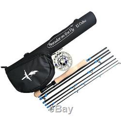 Premium Travel Fly Fishing Rod and Reel Combo, El Ocho (8 Weight) Outfit, Kit
