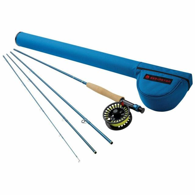 Redington 476-4 Crosswater 4 Wt 7.5 Foot 4 Piece Fly Fishing Rod And Reel Combo
