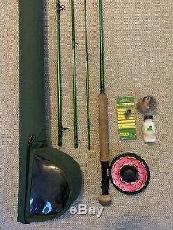 Redington Vice 4-piece Fly Rod And Reel Combo Fishing Pole And Extras