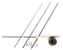 STRADALLI FLY FISHING ROD COMBO 8Wt 9' 4pc FAST ACTION 100% CARBON + BILLET REEL