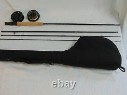 Scientific Anglers Fishing 4 Piece Fly Rod 9' #6wt. With Original Case Reel Line
