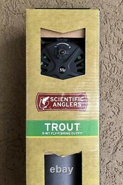 Scientific Anglers Trout Fly Fishing Outfit 4 Pc 5 Wt 9 Ft rod reel line & case