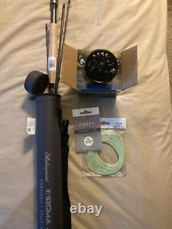 Shakespeare Sigma Fly rod/ Cabelas Intruder fly reel 3wt, 7 fly fishing combo