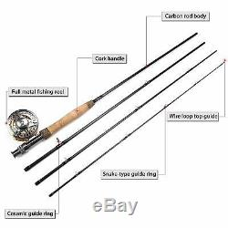Sougayilang Fly Fishing Rod Reel Combos with Lightweight Portable Fly Rod
