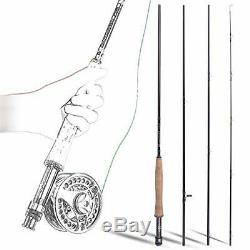 Sougayilang Fly Fishing Rod and Reel Combo, 4 Pieces (Fly Fishing Combo #5)