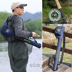 Sougayilang Fly Fishing Rod and Reel Combo, 4 Pieces Ultra Lightweight Portable