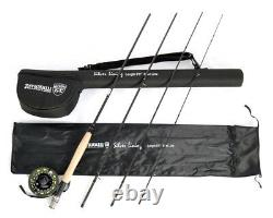 Stradalli 5Wt 9' 4pc Fast Action Fly Fishing Rod 100% Carbon Billet Reel Combo