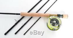 Stradalli 8Wt 9' 4pc Fast Action Fly Fishing Rod 100% Carbon Billet Reel Combo