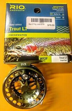 TFO 2wt signature 2 fly rod complete combo with TFO BVK reel, RIO trout LT line