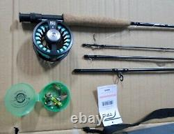 Tfo Temple Fork Outfitters Nxt II Black Label 9' #5 Wt 4 Pc Fly Rod & Reel Combo