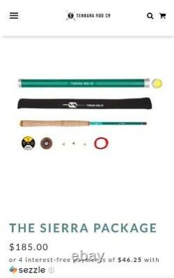The Sierra Package fly fishing rod with line, flies