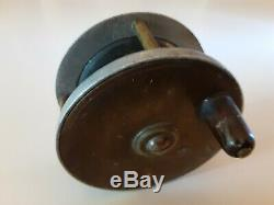 Vintage Antique Allcock 2 ¾ Brass Alloy Combination Fly Fishing Reel