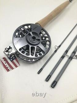Waterworks Lamson Center Axis 9ft, 6wt, 4pc Fly Rod & Reel System NEW