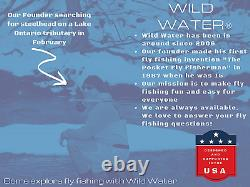 Wild Water Fly Fishing 9 Foot, 4-Piece, 5/6 Weight Fly Rod Combo Starter Package