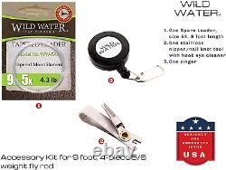 Wild Water Fly Fishing 9 Foot, 4-Piece, 5/6 Weight Fly Rod & Reel Combo Package
