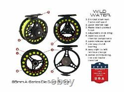 Wild Water Fly Fishing 9 Foot 5/6 Weight Rod 4 Piece Reel Combo Starter Package