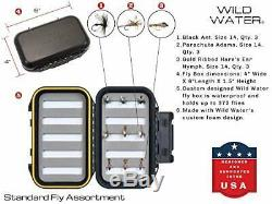 Wild Water Fly Fishing 9 Foot Fly Fishing Rod and Reel Combo Starter Package