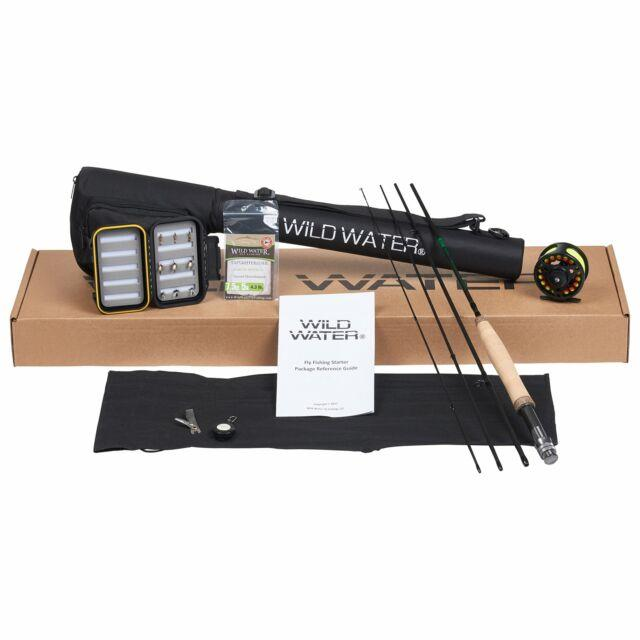 Wild Water Fly Fishing Rod And Reel Combo 4 Piece Fly Rod 3/4 7' Complete Sta