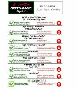 Z. Mark Green Magic Fly Fishing Kit, Exceptional Rod, Reel, & Line Combo